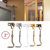 3 Inch Cabinet Door Showcase Gate Window Latches Hook and Eye Wind Proof Silent Lock
