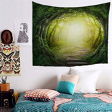 Fairy Forest Hanging Wall Tapestry Bohemian Hippie Tiro copriletto Home Decor