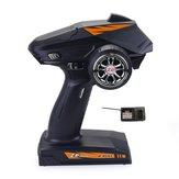 ZD Racing 8277 2.4G 4CH Radio 500M Control remoto Transmisor con Receptor para Rc Coche barco Tanque