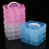 Clear Storage Box Case Plastic Container Organizer untuk Bead Jewelry