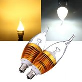 E12 3W AC85-265V White/Warm White Golden Cover LED Candle Light Bulb