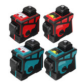 3D 12 Lines أخضر Blue Line Laser Level 360 ° Cross Self Leveling Engineer مع غلاف أحمر أزرق
