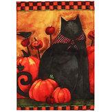 Bandeira decorativa da abóbora do gato preto do Dia das Bruxas