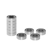 TWO TREES® 10Pcs Full Metal Flange Ball Bearing 608/623/624/625/626/688zz Deep Groove Flanged Pulley Wheel for 3D Printer