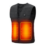 45°C Men Women Electric Heated Vest USB Powered Fleece Waistcoat Fast Heating Jacket Clothing Black