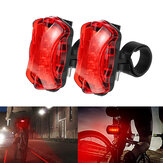 BIKIGHT LED Bike Tail Light 7 Modes USB Safety Warning Lamp Bicycle Rear Lamp Outdoor Cycling Bike Light Bicycle Taillight