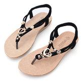 Las mujeres de verano cómodos pisos Sandalias Slip On Soft Moda Playa Sandalias Zapatos