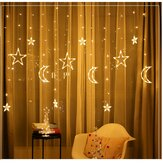 3.5M LED Moon Star Fairy String Light Wedding Holiday lampada Decorazione per feste domestiche Spina UE AC220V