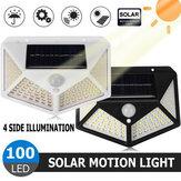 100LED Solar Motion Sensor Wandlamp Outdoor Tuinlamp Waterdichte Beveiliging Verlichting voor Thuispad