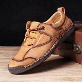 Menico masculino costura à mão respirável Soft antiderrapante sapatos casuais planos diários