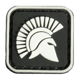 2.5x2.5cm mini piazza Molon Labe re di bagliore sparta Tactical esercito pvc cerotto Brassard nero