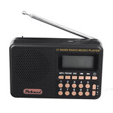 Portable Mini 70MHz-108MHz FM/AM/SW Radio Rechargeable MP3 Music Player Speaker Support TF Card  U Disk Playback