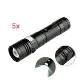 5本XANES1301XM-LT61500ルーメンUSB充電式LED懐中電灯