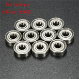 10pcs 694ZZ 4x11x4mm Roulements à billes Deep Groove Double Blindé Miniature Ball Bearing