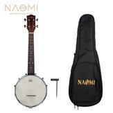 NAOMI NUKB-02 Banjolele Banjouke Concert-Scale Banjo Ukulele Sunset Color Maple Neck With Gig Bag