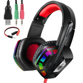M1 Gaming Headset Surround Sound Music Earphones USB 7.1 & 3.5mm Wired RGB Backlight Game Headphones with Mic