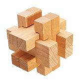 Kong Ming Lock Brinquedos Crianças Crianças Montagem Puzzle 3D Cube Desafio IQ Brain Toy de madeira
