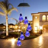 LED-licht Solar Light Windgong Kleur veranderende tuin Koperen lamp