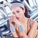 Kadın Spor Pamuklu Sweat Kuşağı Nefes alabilir Fitnes Koşu Saçağı