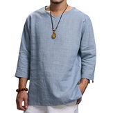 Ethnic Casual Men's Large Size Loose T-Shirts