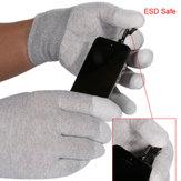 1ペアのESD安全手袋静電気防止アンチスキッドPUフィンガートップは、電子修理作業のためにコーティング