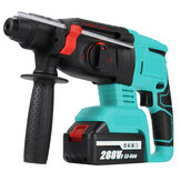 288VF Multifunctional Electric Demolition Jack Hammer Impact Drill Concrete W/ Battery