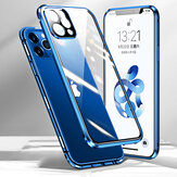 [Upgrade Version] Bakeey for iPhone 12 Pro / 12 Case 360º Magnetic Flip Touch Screen Double-Sided 9H Tempered Glass + Metal with Lens Protector Full Body Protective Case