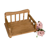 Newborn Photography Bed Prop for Baby Retro Wooden Cot Posing Bed Armchair Studio Photo Props