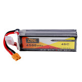 ZOP Power 14.8V 4500mAh 4S 45C Lipo Battery XT60 Plug