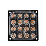 48W 16-LED Side Strobe Light Flash Luz Alumínio Branco / Amarelo / Vermelho / Azul DC 12V-24V Para Carro SUV Vans Caminhões