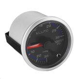 Medidor de presión ELUTO 12V 2 pulgadas 52mm Coche Turbo Boost LED Pantalla Cara negra
