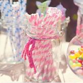 Doğum Günü İçin 25 Adet Kağıt Çöpleri Düğün Dekorasyon Partisi Çöpleri Kaynağı Creative Paper Drinking Straw