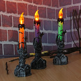 Halloween schedel skelet handstand LED kaarslicht partij decoraties