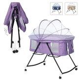 Wielofunkcyjne łóżeczko dziecięce z moskitierą przenośne składane łóżeczko dla noworodka kołyska łóżko zagraj w grę łóżko dla 0-3 lat