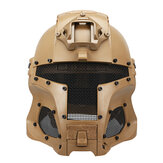 WoSporT Full Face Steel Mesh Helmet Shield Medieval Warrior Warrior Tactical Outdoor Retro Motorcycle