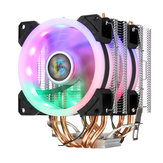4Pin Dual Fans 4-Heatpipes Colorfule backlit معالج Cooling Cooler Heatsink for انتل AMD