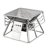 CAMPINGMOON X-MINI Portable En Acier Inoxydable Pliant Barbecue Grill Anti-adhérent Surface Barbecue Grill Accueil Camping En Plein Air Pique-Nique Outil