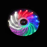 15LED Ring Fan RGB Light Ultra Silent 12V 120mm Computer Case PC Koelventilator