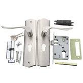 Indietro la leva lucido maniglia della porta anteriore cilindro della serratura a doppia chiusura con le chiavi