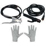 Morsetto di terra + pinze per saldatura + paio di guanti per saldatrice elettrica ZX7-250 220V