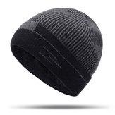 Erkekler Kadın Kış Sıcak Kalınlaşmak Plus Kadife Örgü Skullcap Şapka