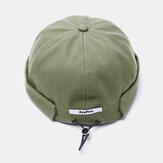 الصلبة اللون ريترو الرباط قبعة قبعة القبعات بدون حواف