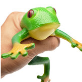 TPR Frog Model Squeeze Soft Stretch Toy 15cm Realistic Frog Novelties April Fool's Day Tricky Toys Creative Decompression Decoration