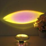 Lâmpada de projeção do pôr do sol de cristal Decoração Chão do quarto Luz noturna