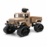 Fayee FY001 1/16 2.4G 4WD Rc Carro 720 P 0.3MP WIFI FPV Escovado Caminhão Militar Off-road W / LED luz