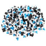 100 sztuk 8x8mm 6-stykowy dotykowy samoblokujący włącznik / wyłącznik Przełącznik przyciskowy Przełącznik zatrzaskowy