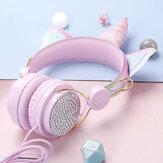 Bekabelde hoofdtelefoon Draagbaar opvouwbaar 3,5 mm-stekker Over-ear stereomuziek Sport-headset met microfoon