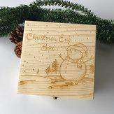 Regalo di giocattoli in legno regalo Scatola Pupazzo di neve di Natale