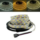 5M 5050 SMD Dual Color Temperatuur Instelbaar Wit Warm Wit Niet Waterdicht LED Flexibel Strip Light DC12V