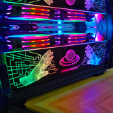 COOLMOON Power Supply RGB Light Board Computer Case RGB Side Panel 16 million RGB Chassis Decor with Remote Control